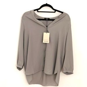 NYDJ Grey Blouse / Top size M